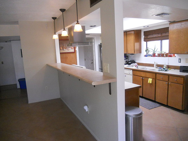 Pass Through Kitchen Counter