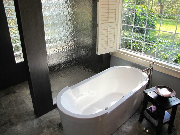 ServiceLane Textured Glass Bath Partition - Bathroom partitions jacksonville fl