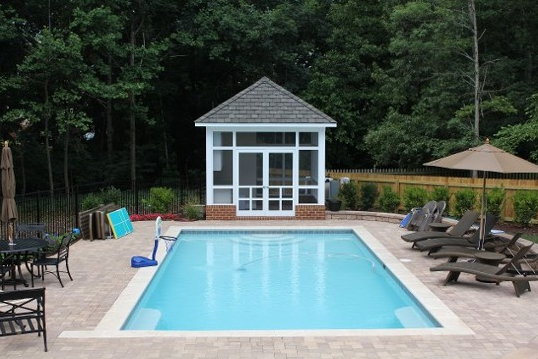 Pretty pool house