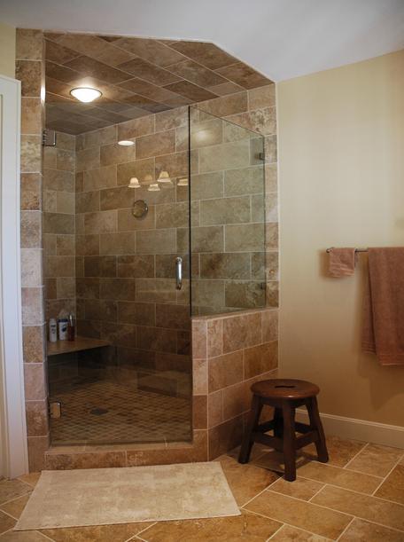 Fully tiled shower. ServiceLane   Fully tiled shower