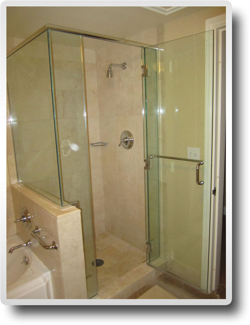 ServiceLane - All glass corner shower enclosure